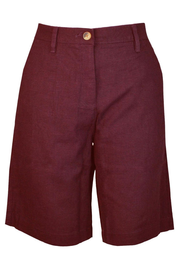 Womens Linen Long Shorts