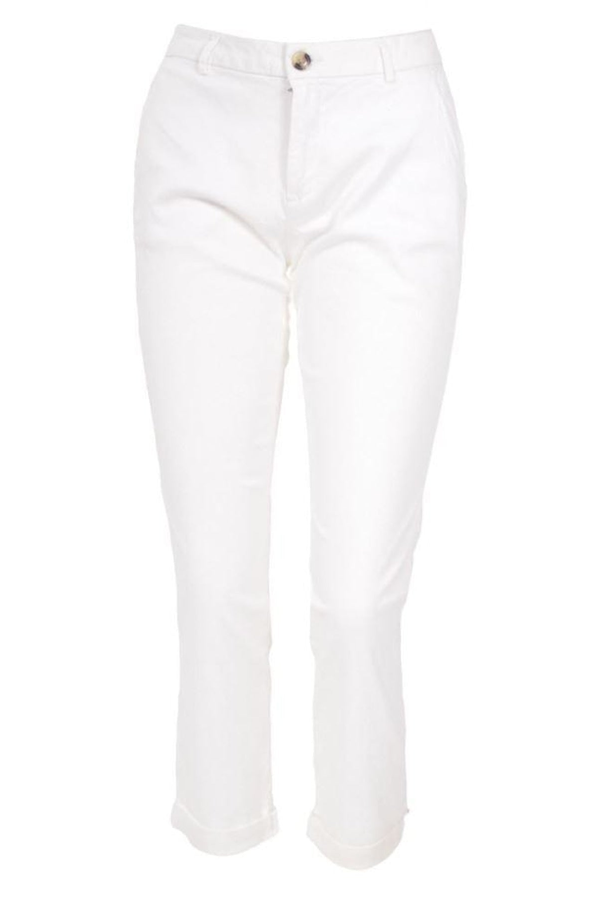 United Colors of Benetton Cropped Chino Trousers | 6 / Pink Secret Label
