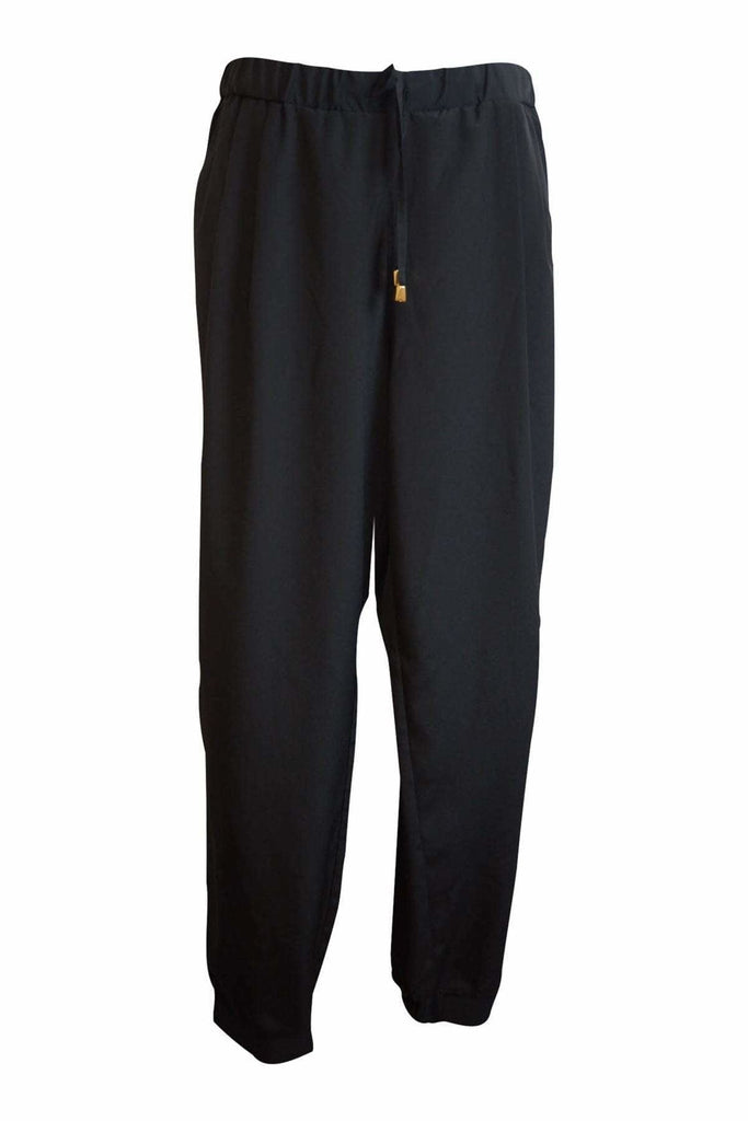 Threads Black Silky Smart Trousers