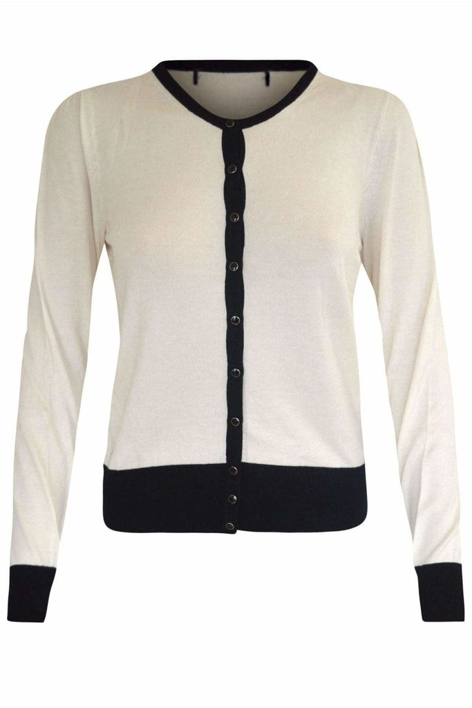 Marks & Spencer Button Through Crew Neck Cardigan