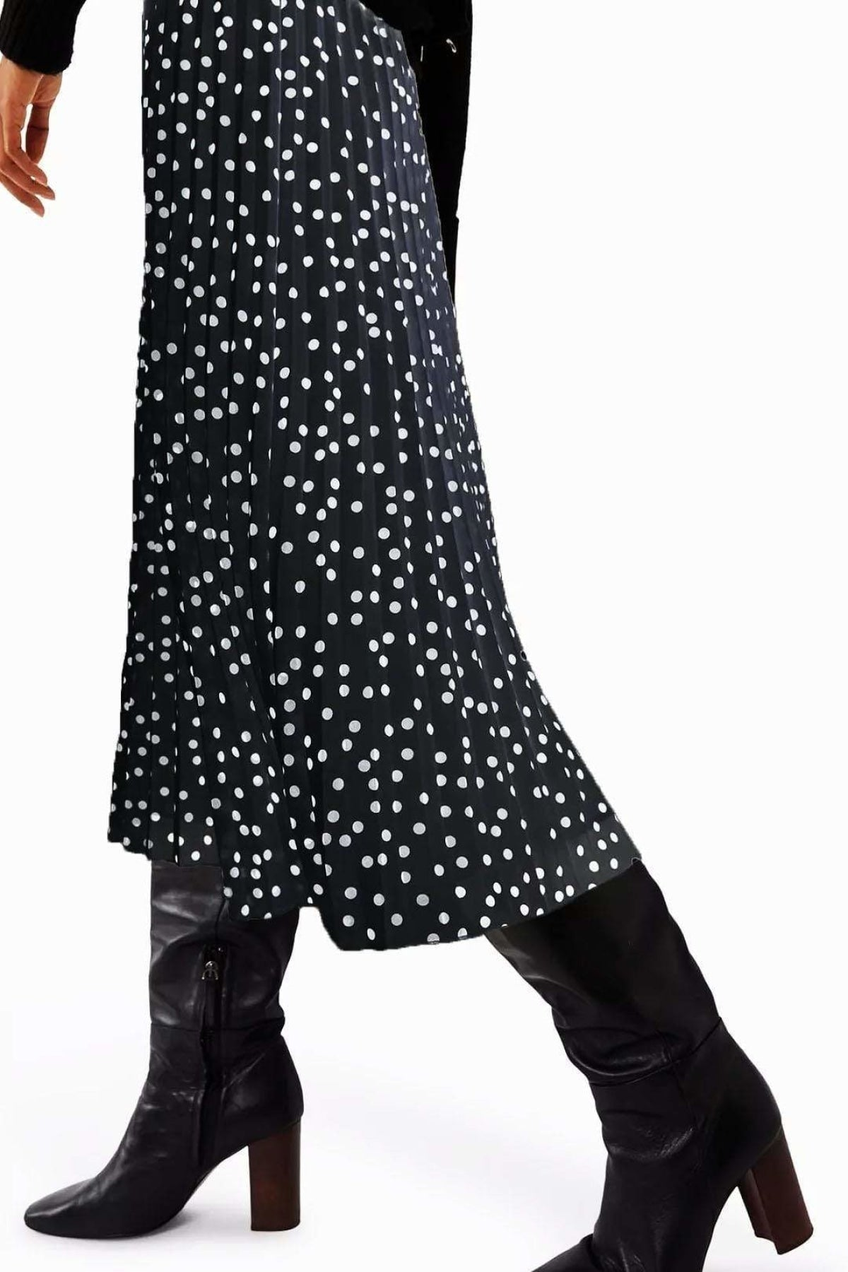 Warehouse Black Spot Pleat Skirt | 14 / Black Spot Secret Label