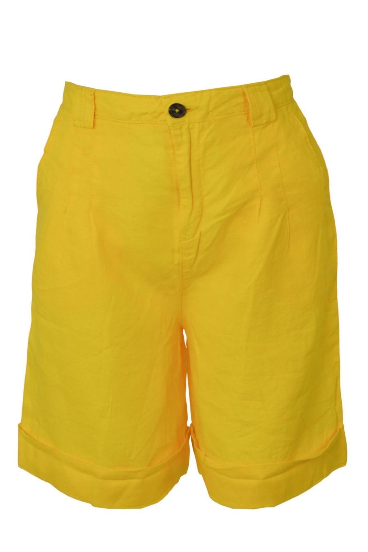 United Colors Of Benetton Cotton Bermuda Shorts | 6 / Yellow Secret Label