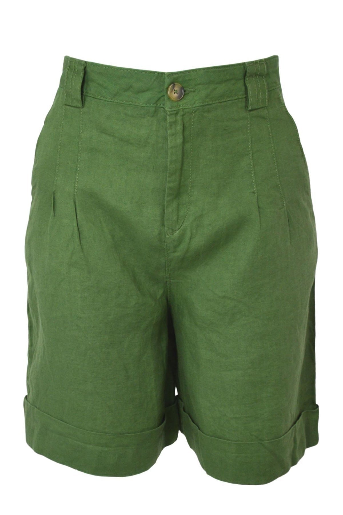United Colors Of Benetton Cotton Bermuda Shorts | 8 / Olive Secret Label