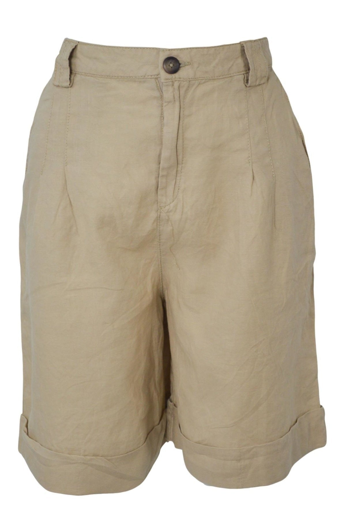 United Colors Of Benetton Cotton Bermuda Shorts | 16 / Beige Secret Label