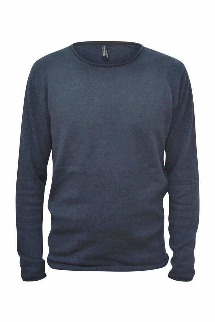 Piazza Italia Crew Neck Roll Edge Jumper