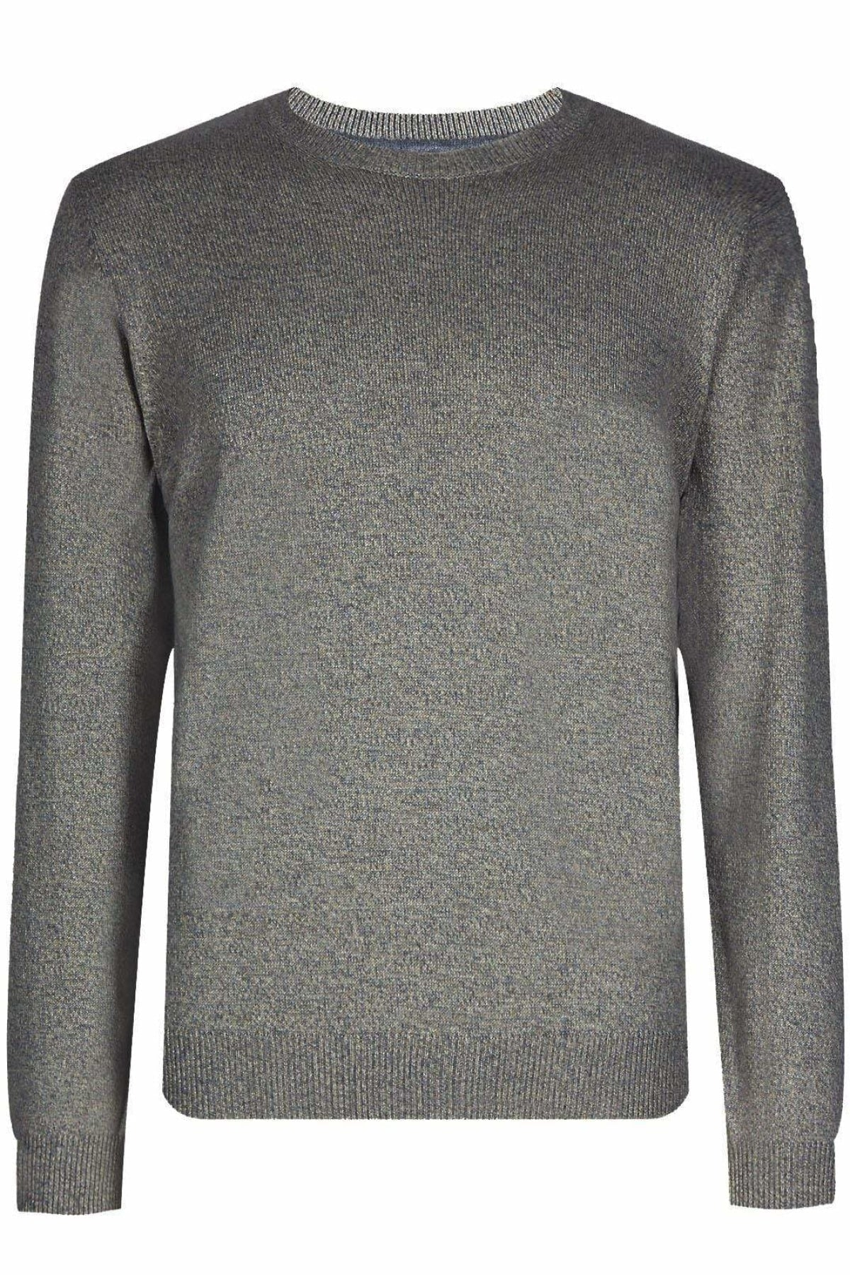 Marks & Spencer Crew Neck Pure Cotton Jumper | S / Grey Secret Label