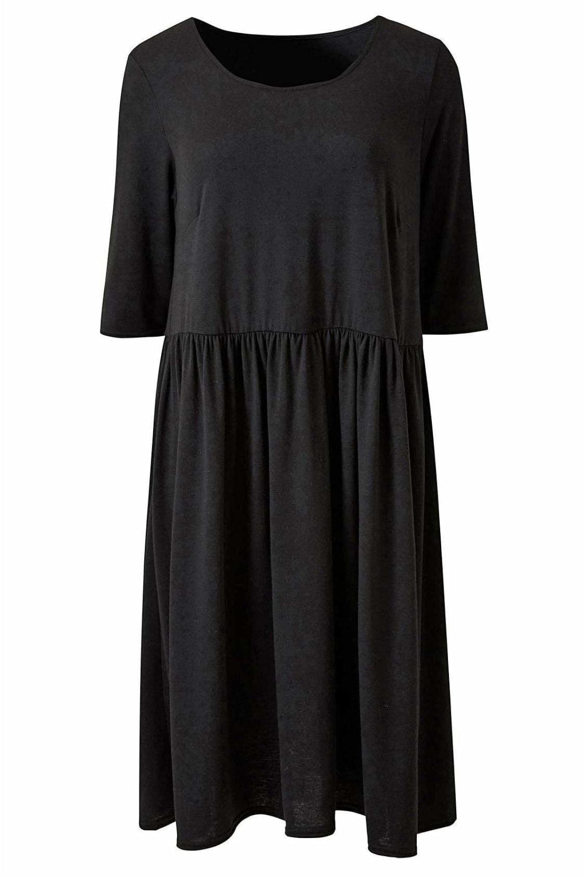 Simply Be Simply Be Black Jersey Smock Dress | Secret Label