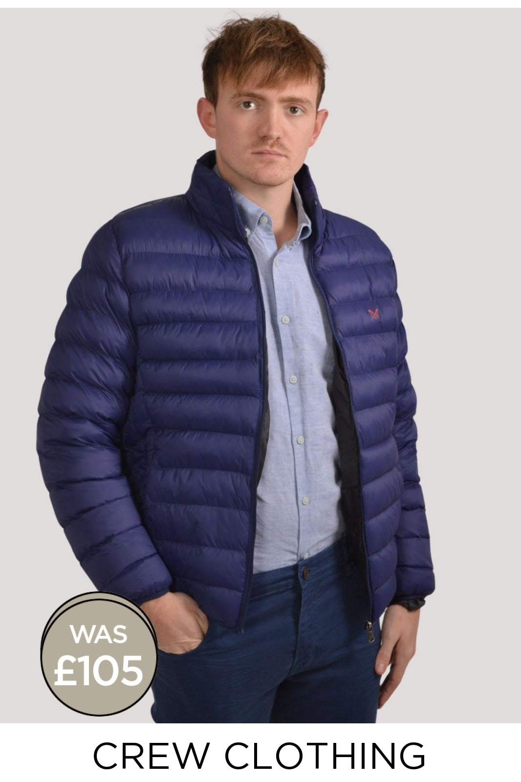 Crew Clothing Mens Puffer Jacket | S / Blue Secret Label