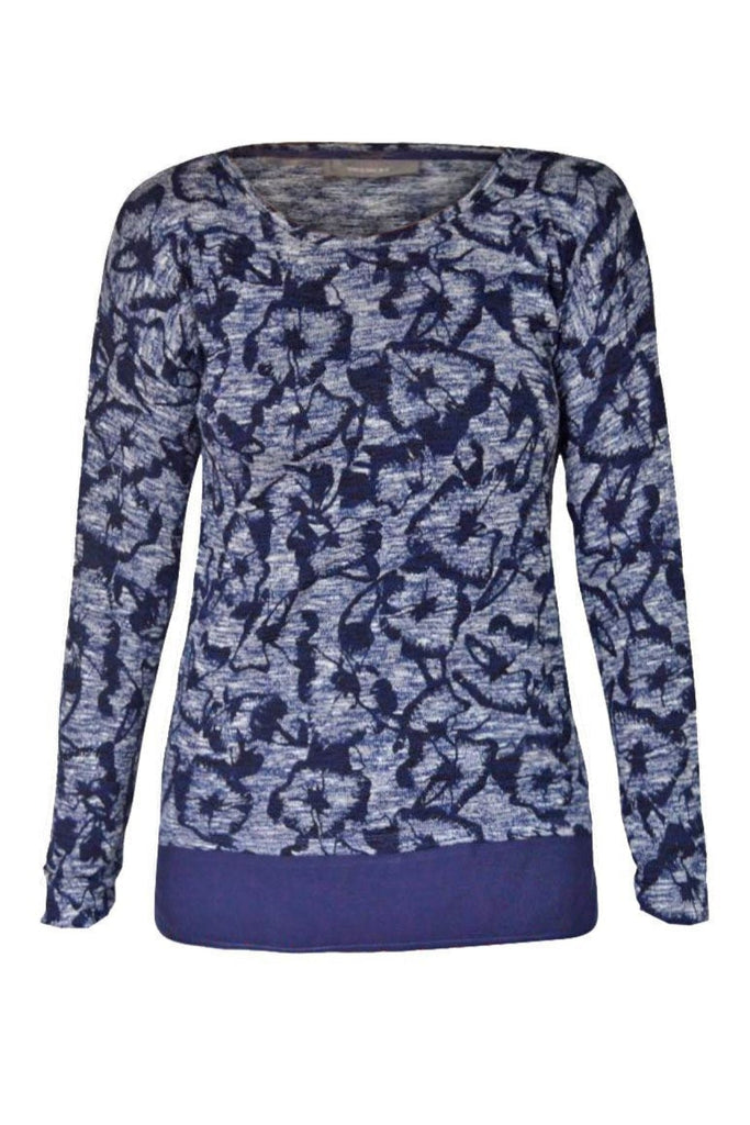 YESSICA Floral Print 2in1 Mock BlouseTop