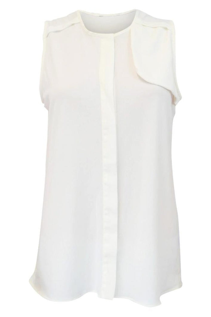 Next Ivory Sleeveless Silky Blouse
