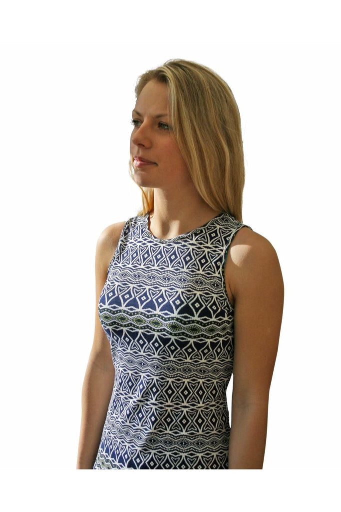 Secret Label Navy Green Aztec Mini Dress