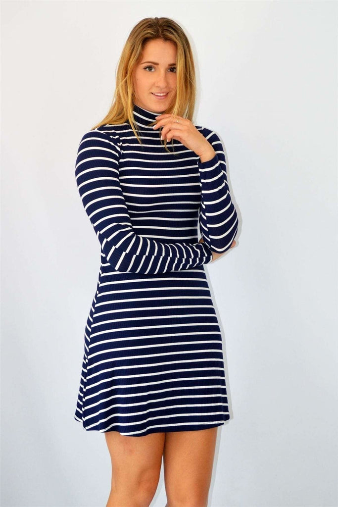 Urban Outfitters Navy Stripe Polo Dress