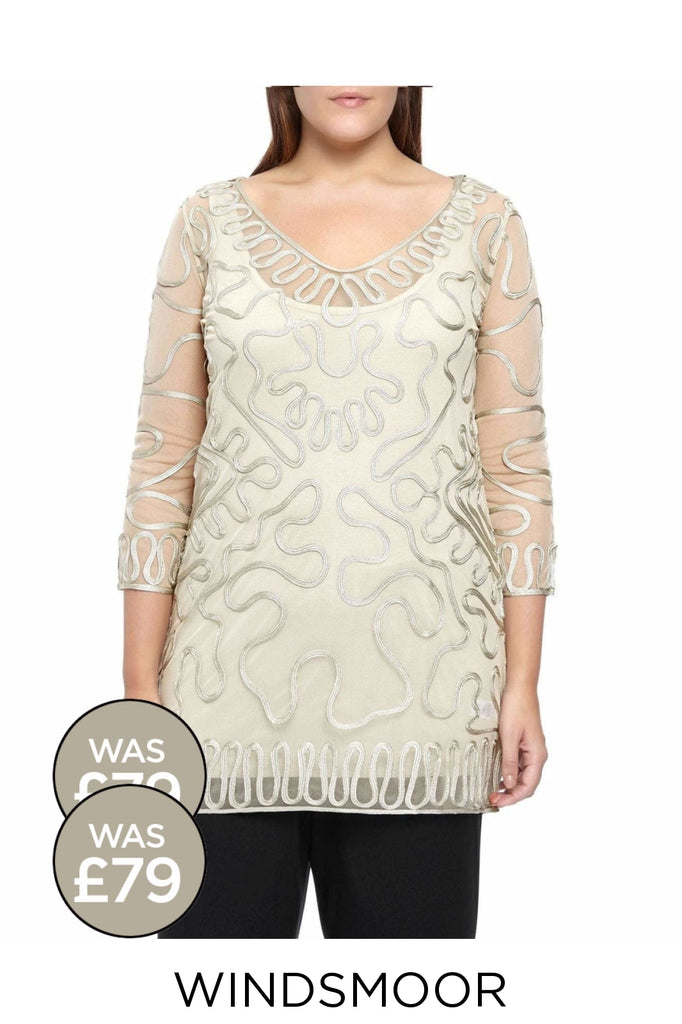 WINDSMOOR Oyster Tapework Tunic Top