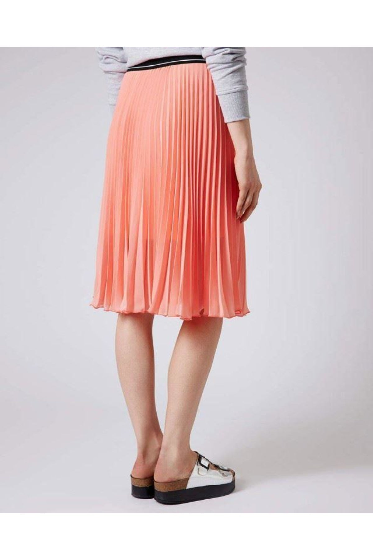 Topshop Ex Topshop Pleated Floaty Summer Skirt | Secret Label