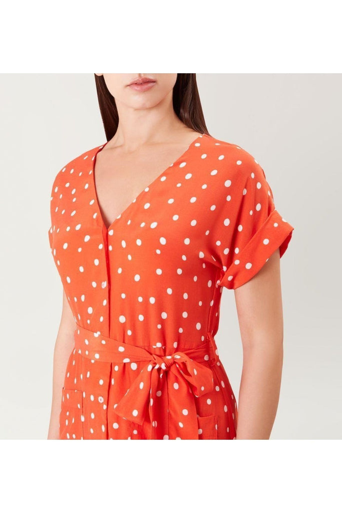 Hobbs Red 'Lucinda' Spot Dress