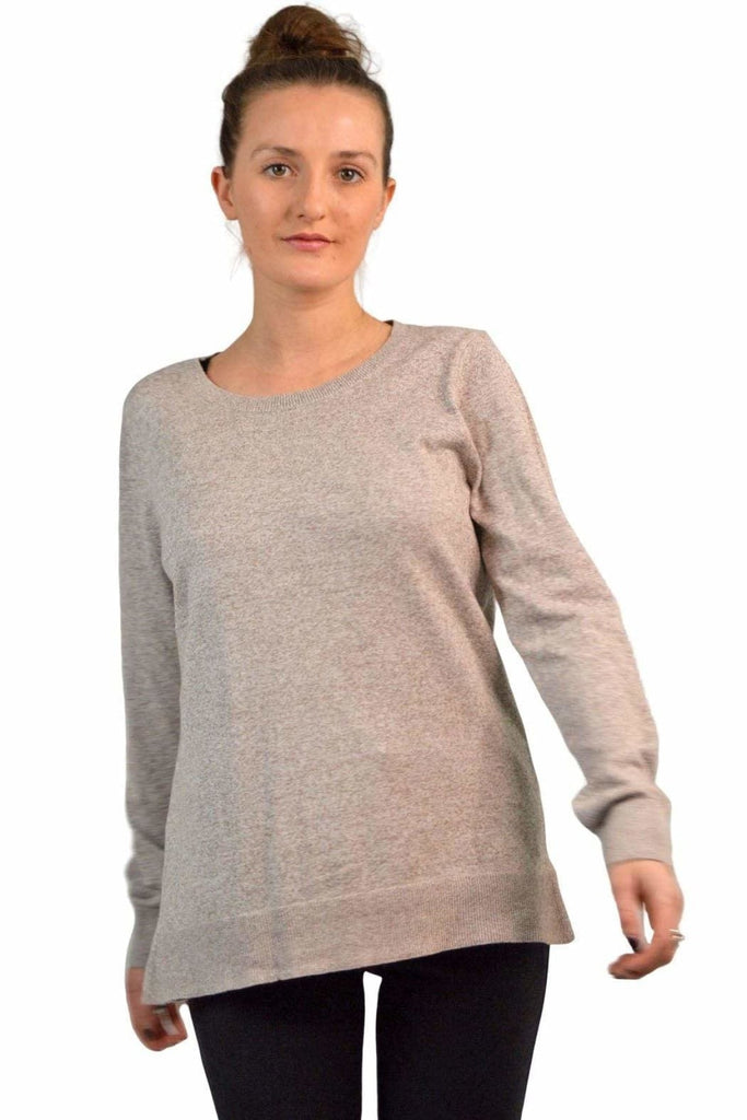 Gap Round Neck Cotton Blend Marl Jumper