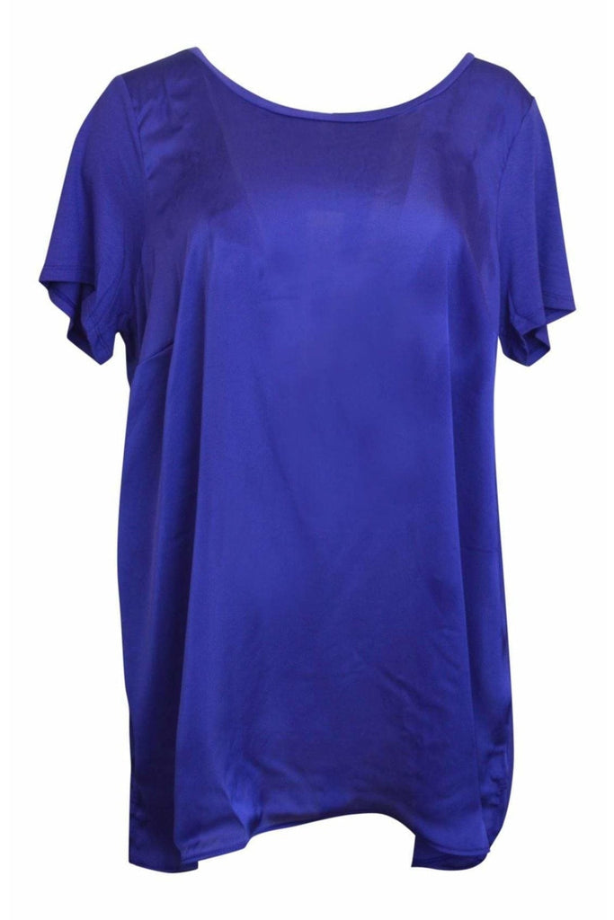 Evans Satin Front Round Neck Top