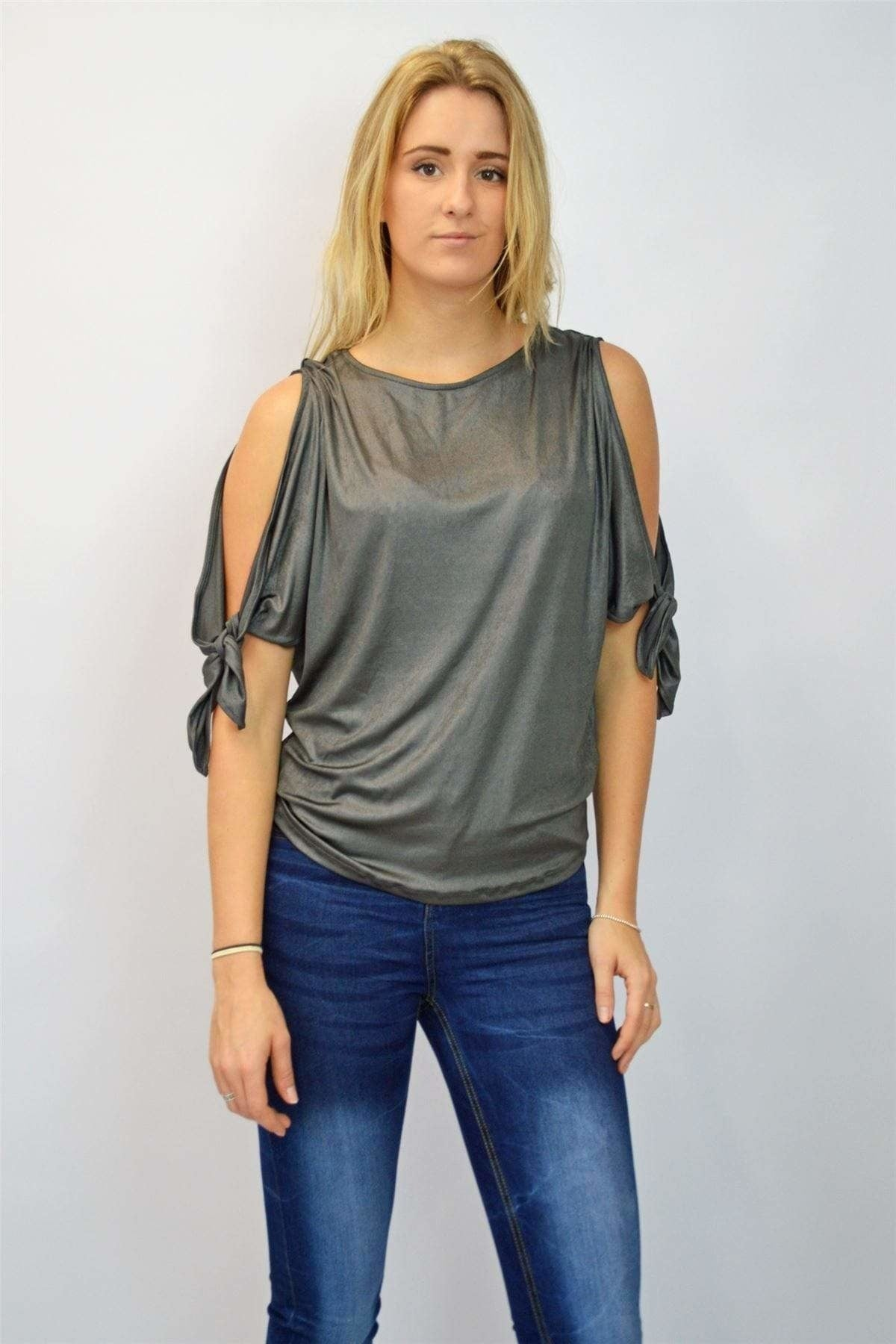 Next Ex Next Slinky Cold Shoulder Top | Secret Label
