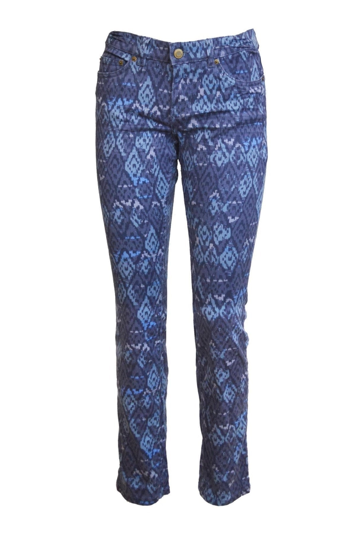 H&M Ex H&M Blue Aztec Print Skinny Jeans | Secret Label