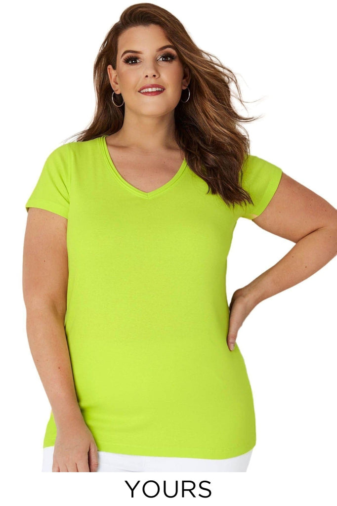 Yours V Neck Plus Size T Shirt