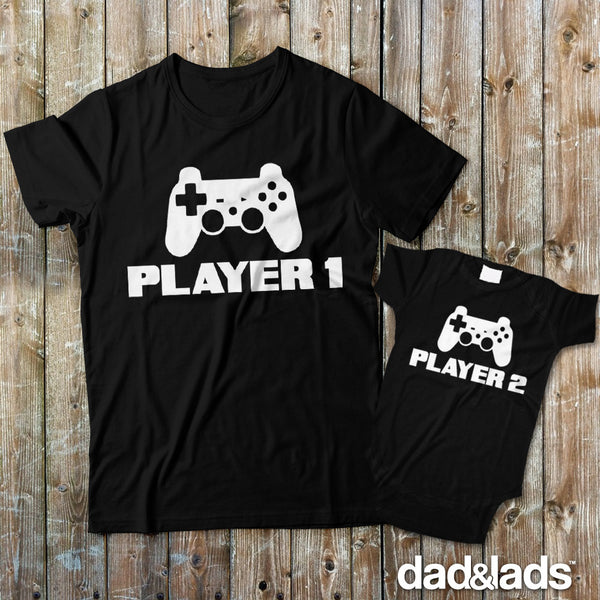 Player 1 & Player 2 Matching Set - Dad and Lads