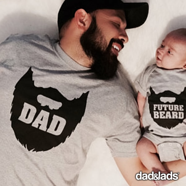 Dad Beard and Future Beard Matching Shirts for Father and Son - Dad and Lads