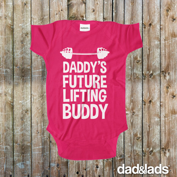Daddy's Future Lifting Buddy Baby Onesie - Dad and Lads