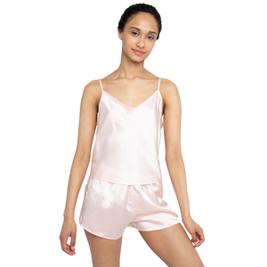 MYK Silk-Silk Camisole and Shorts Set (22 Momme)