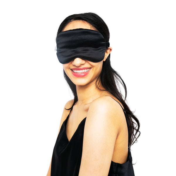 Beauty Silk Eye Mask with Velvet Band - MYK Silk