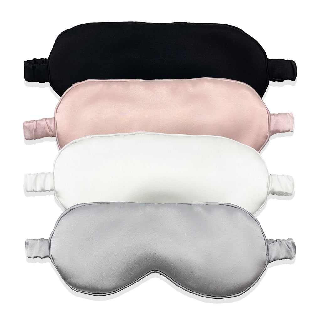 MYK Silk-Luxury Silk Eye Mask with Silk-Covered Elastic Band (25 momme)