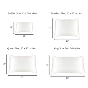 Beauty Mulberry Silk Pillowcase (22 Momme), King, Cotton Underside