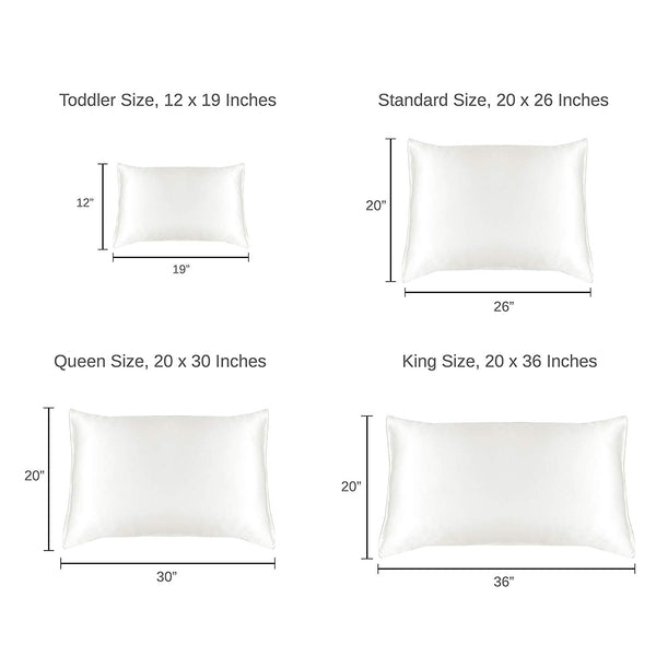 Luxury Mulberry Silk Pillowcase (25 momme), King, Cotton Underside - MYK Silk
