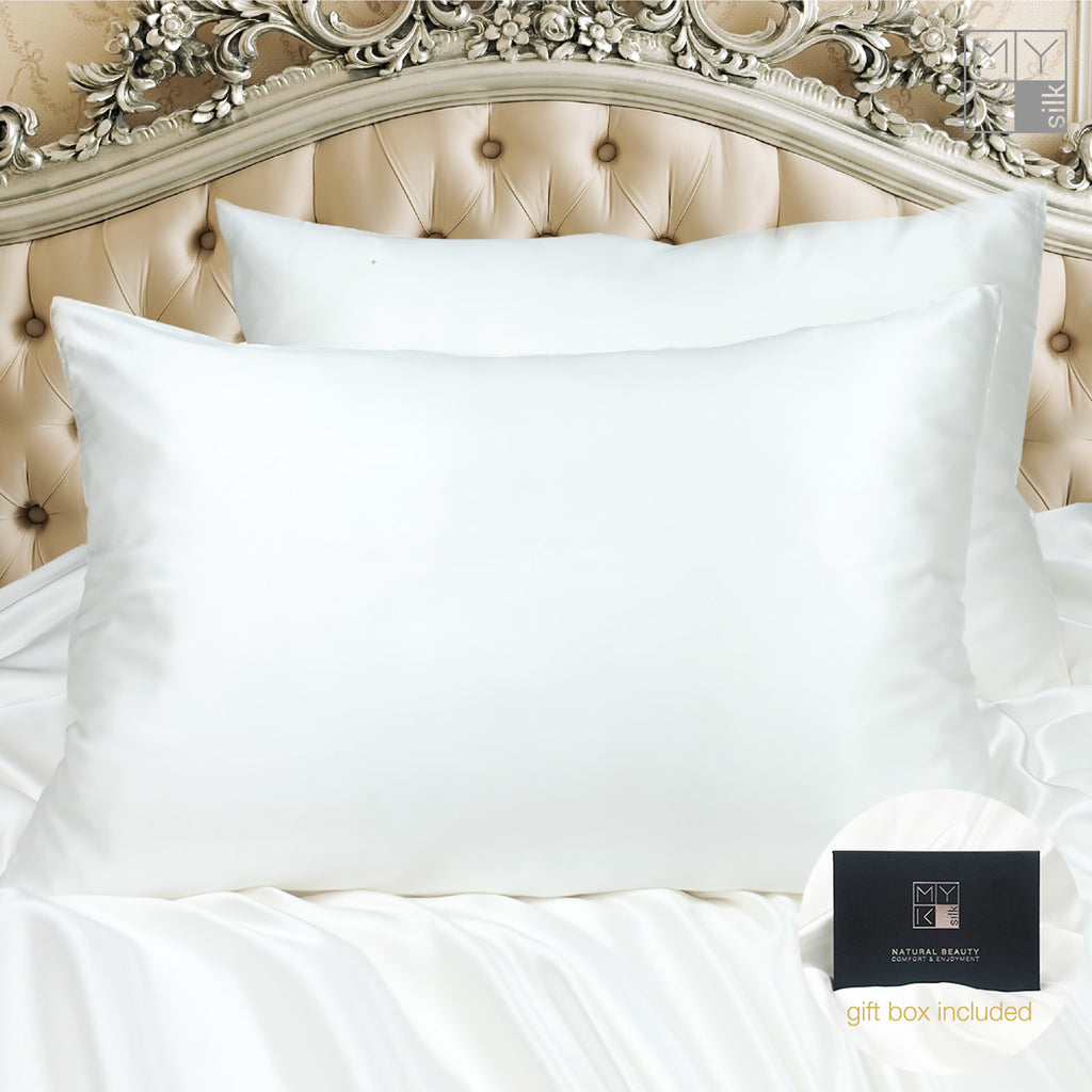 MYK Silk-Limited Edition Mulberry Silk Pillowcase (30 momme), King Size, Ivory