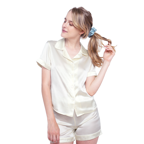 Silk Short Pajama Set (22 Momme) - MYK Silk