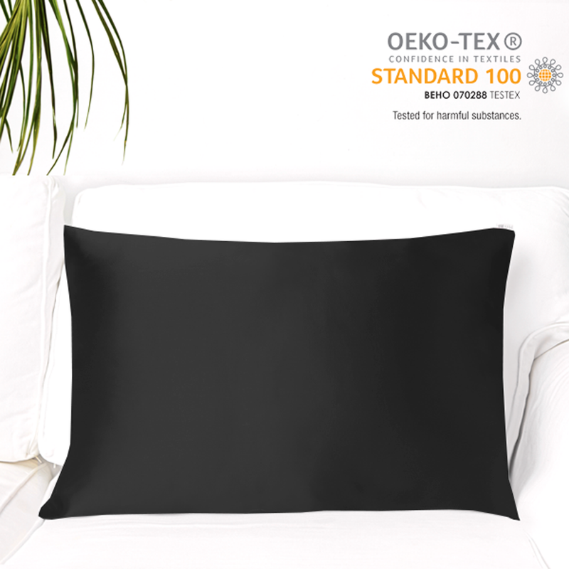 Natural Mulberry Silk Pillowcase (19 Momme), Queen, Cotton Underside - MYK Silk