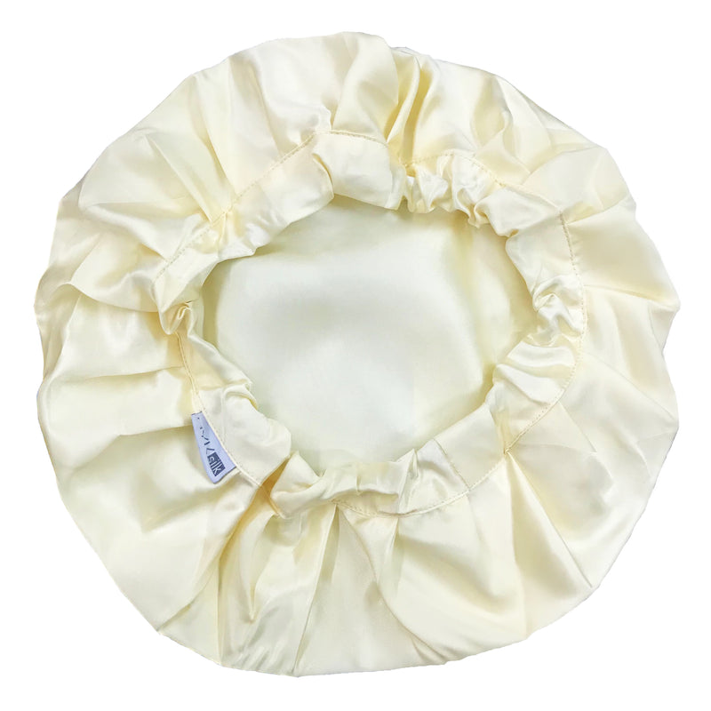 MYK Silk-Silk Night Sleeping Cap Bonnet with Comfort Elastic Band