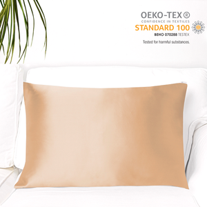 MYK Silk-Natural Mulberry Silk Pillowcase (19 Momme), King, Cotton Underside