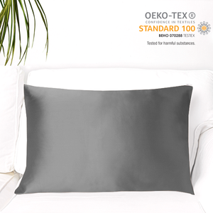 MYK Silk-Natural Mulberry Silk Pillowcase (19 Momme), Queen, Cotton Underside