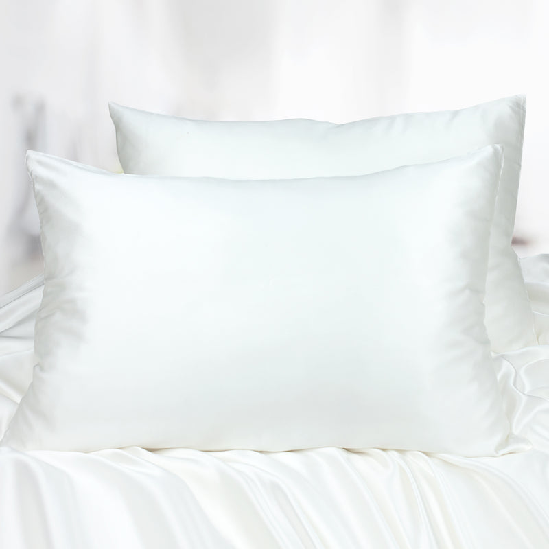 Limited Edition Mulberry Silk Pillowcase (30 momme), Queen Size, Ivory - MYK Silk