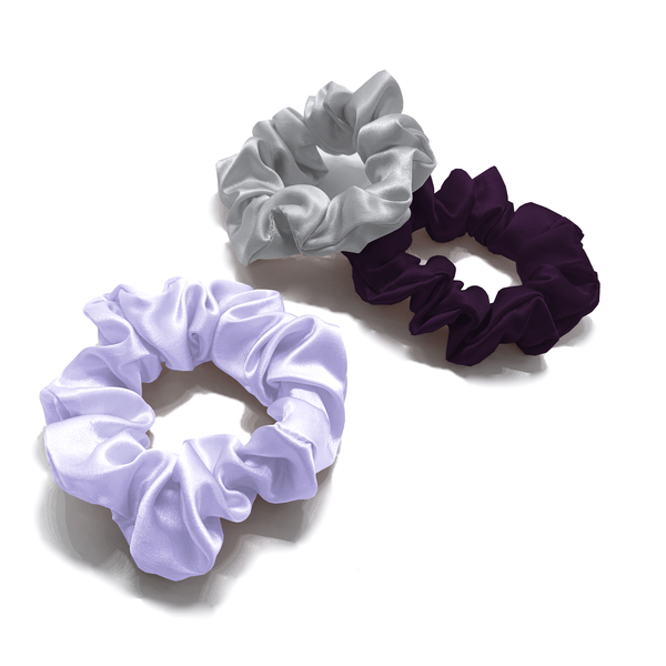 MYK Silk-Large Silk Scrunchies (Pack of 3)