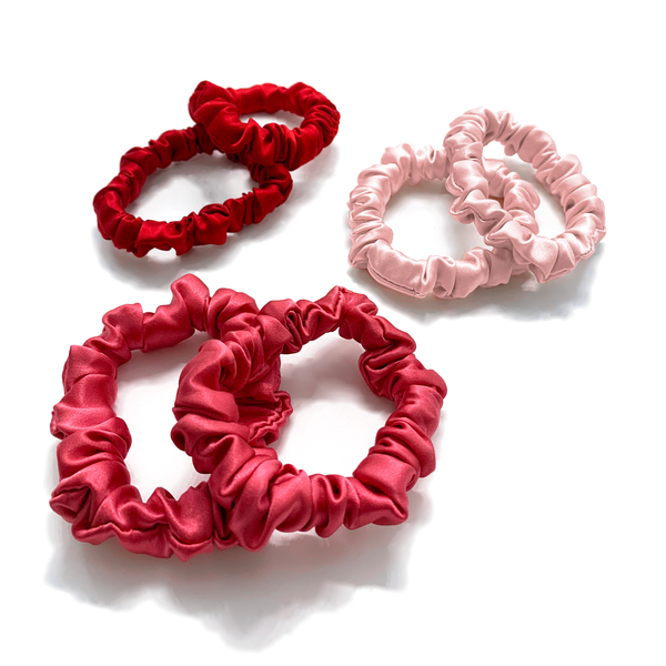 Small Silk Scrunchies (Pack of 6) - MYK Silk