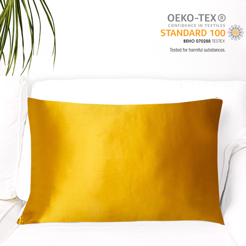 Natural Mulberry Silk Pillowcase (19 Momme), King, Cotton Underside - MYK Silk