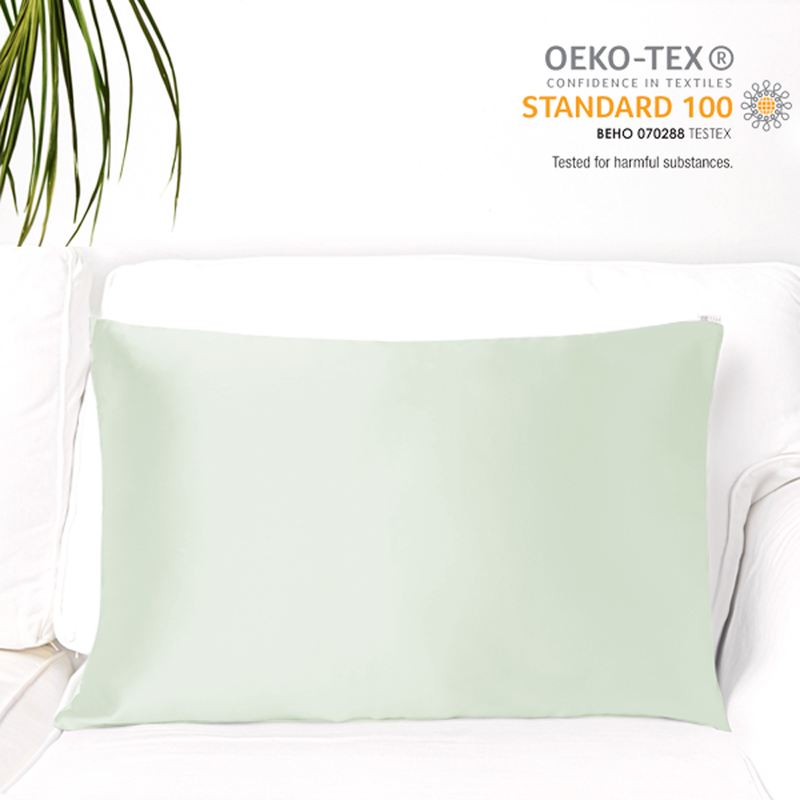 MYK Silk-Natural Mulberry Silk Pillowcase (19 Momme), Standard, Cotton Underside