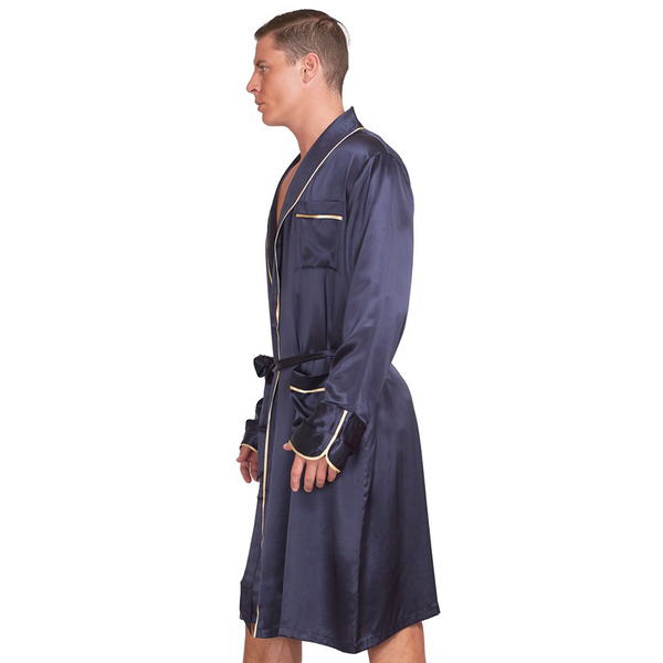 Men Classic Silk Robe - MYK Silk