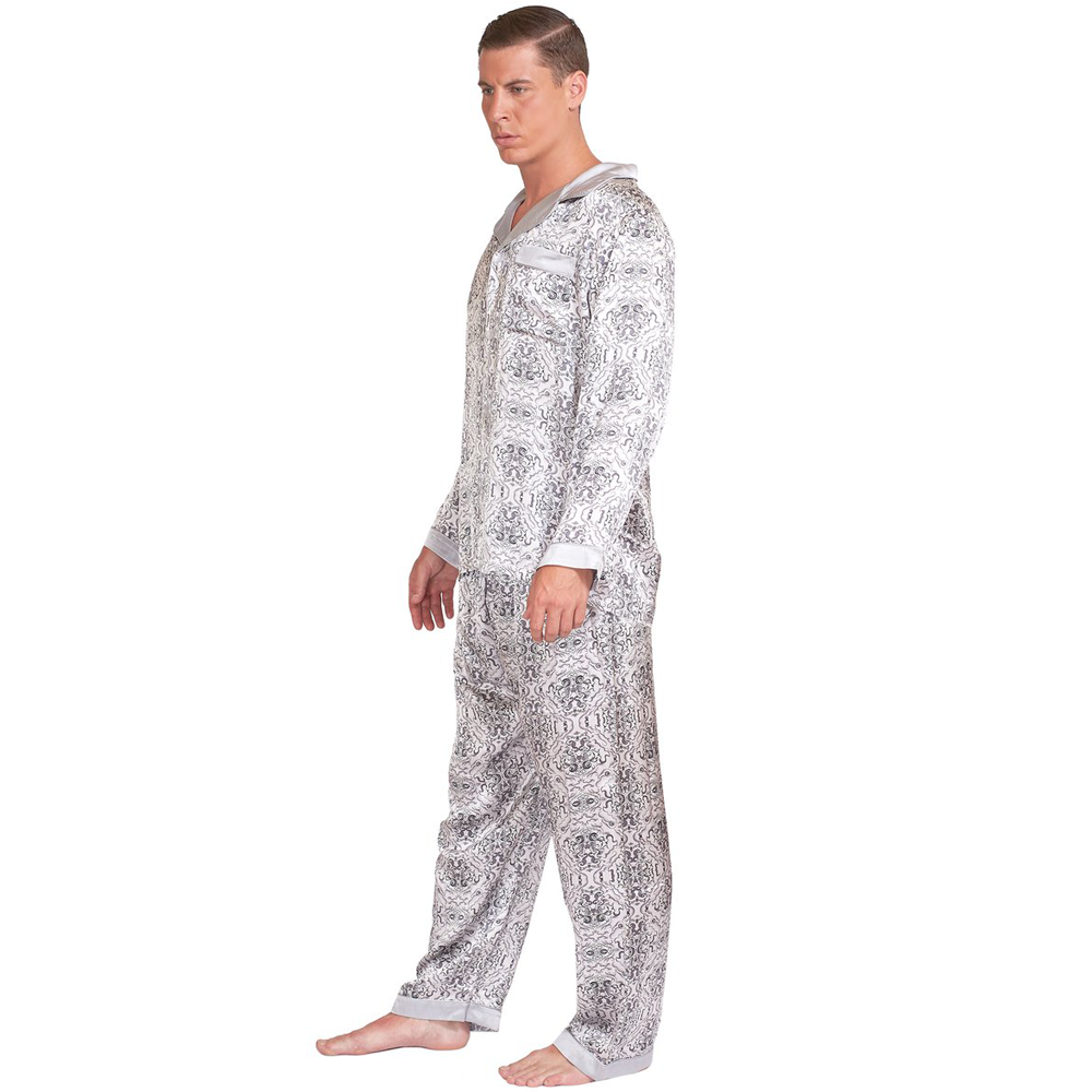 MYK SILK Men s Pure Silk Pajama Set  The Perfect Father s Day Gift ... ceb5cf3a3