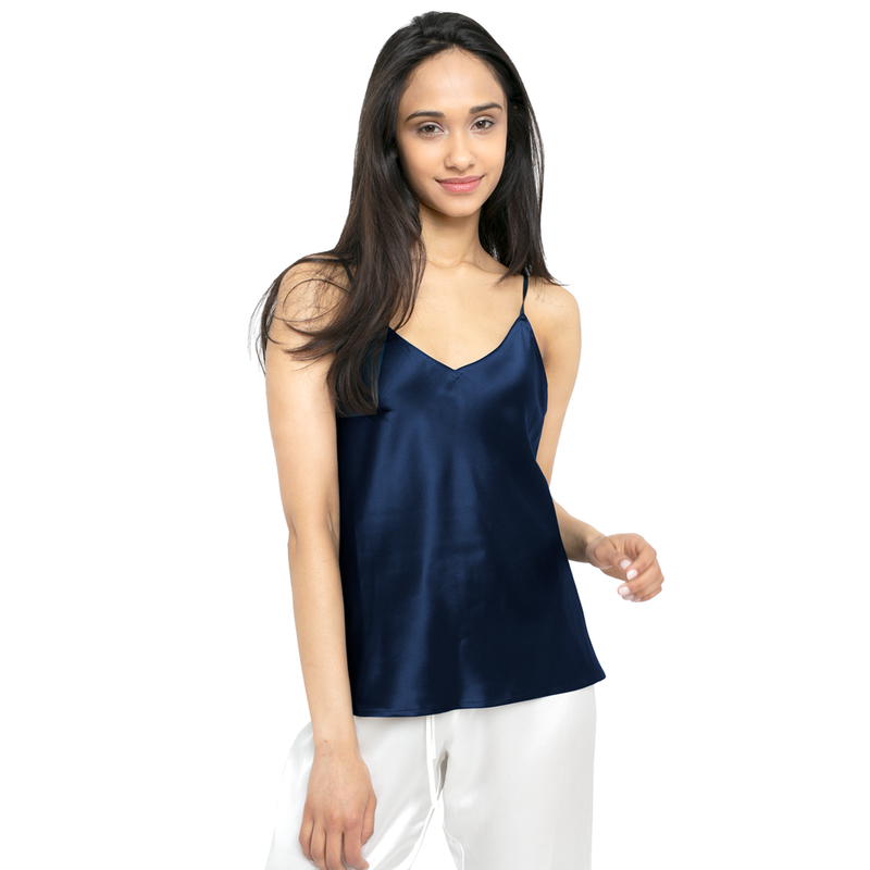 MYK Silk-Silk Camisole with Adjustable Strap