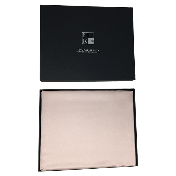 MYK Silk-Silk Seamless Flat Sheet, Queen Size