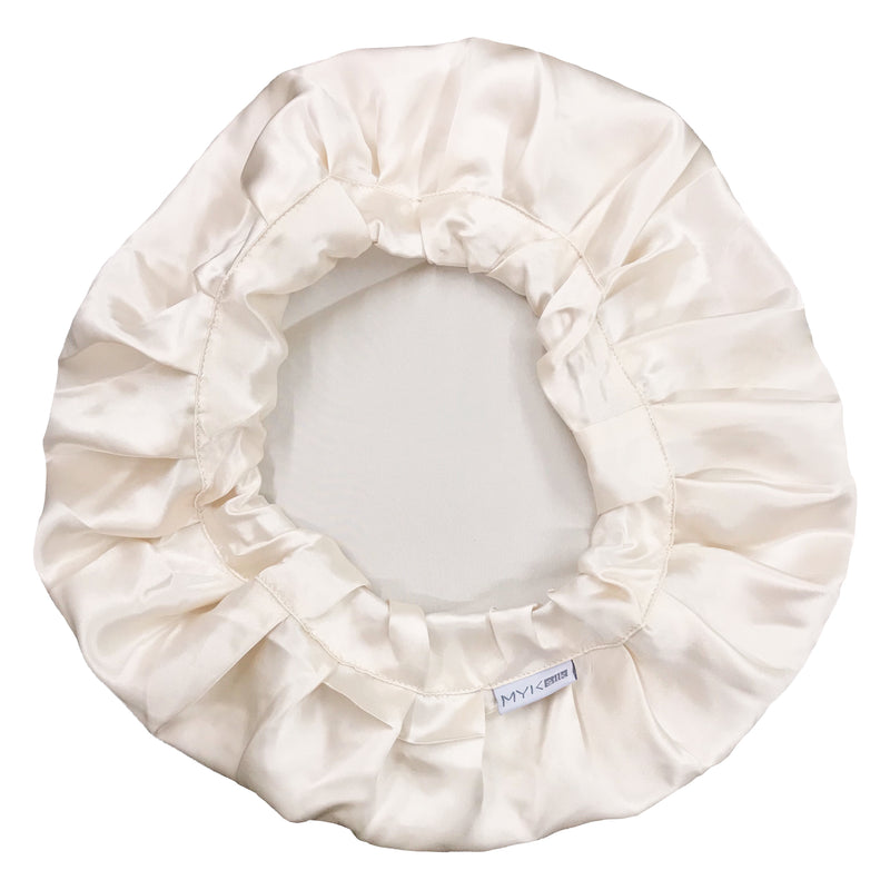 Silk Night Sleeping Cap Bonnet with Comfort Elastic Band - MYK Silk