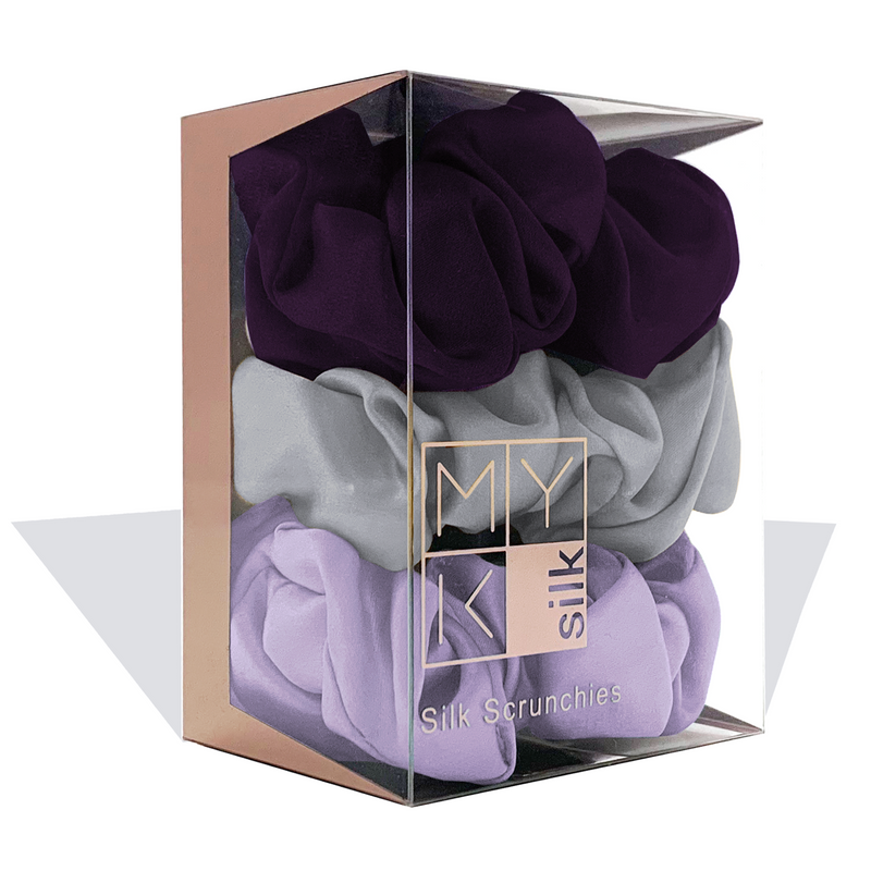 MYK Silk-Large Silk Scrunchies (Box of 3)