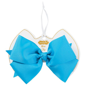 Turquoise Bow Clip : Mud Pie Baby